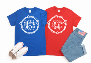 Patriotic Monogram T-Shirt