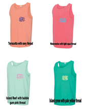 Comfort Colors Pocket Tank with monogram
