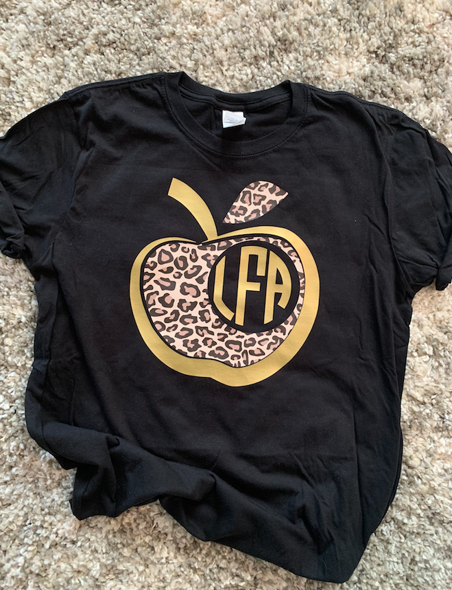 Leopard Apple Monogram Tee