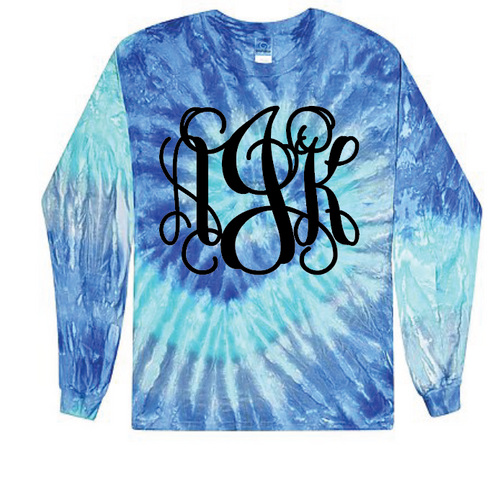 Blue Tie Dye Long Sleeve