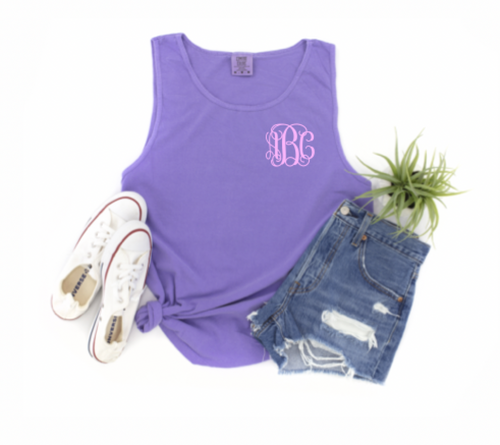 Comfort Colors Tank with Monogram