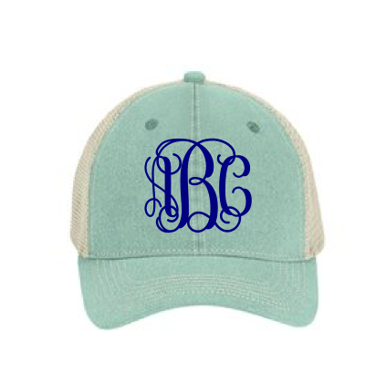 Comfort Color Mesh Snapback Hat with Monogram