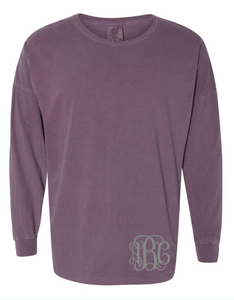 Comfort Colors Drop Shoulder Long Sleeve Tee