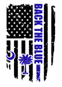 Back the Blue Palmetto Decal