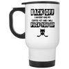 Back Off 14oz Travel Mug
