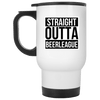 Straight Outta Beer League 14oz Travel Mug