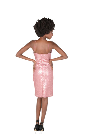 Fully Sequined Party Dress Back