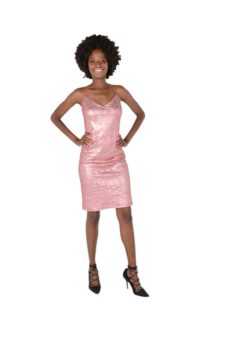 Fully Sequined Party Dress Front