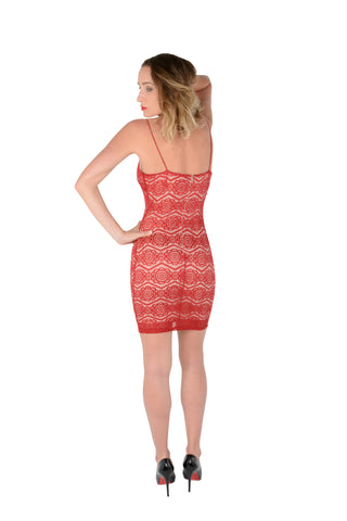 Showstopper Red Lace Bodycon Back