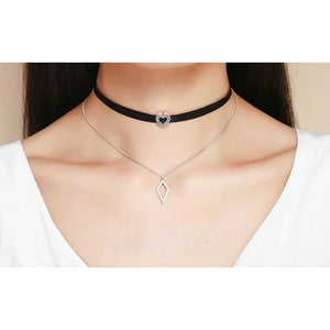 Double Layer Ribbon Choker