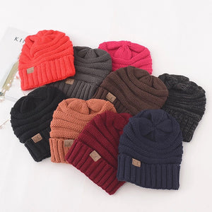f91237599eb2f2 C.C Adult Winter Cable Knit Beanies – Mile End Treasures
