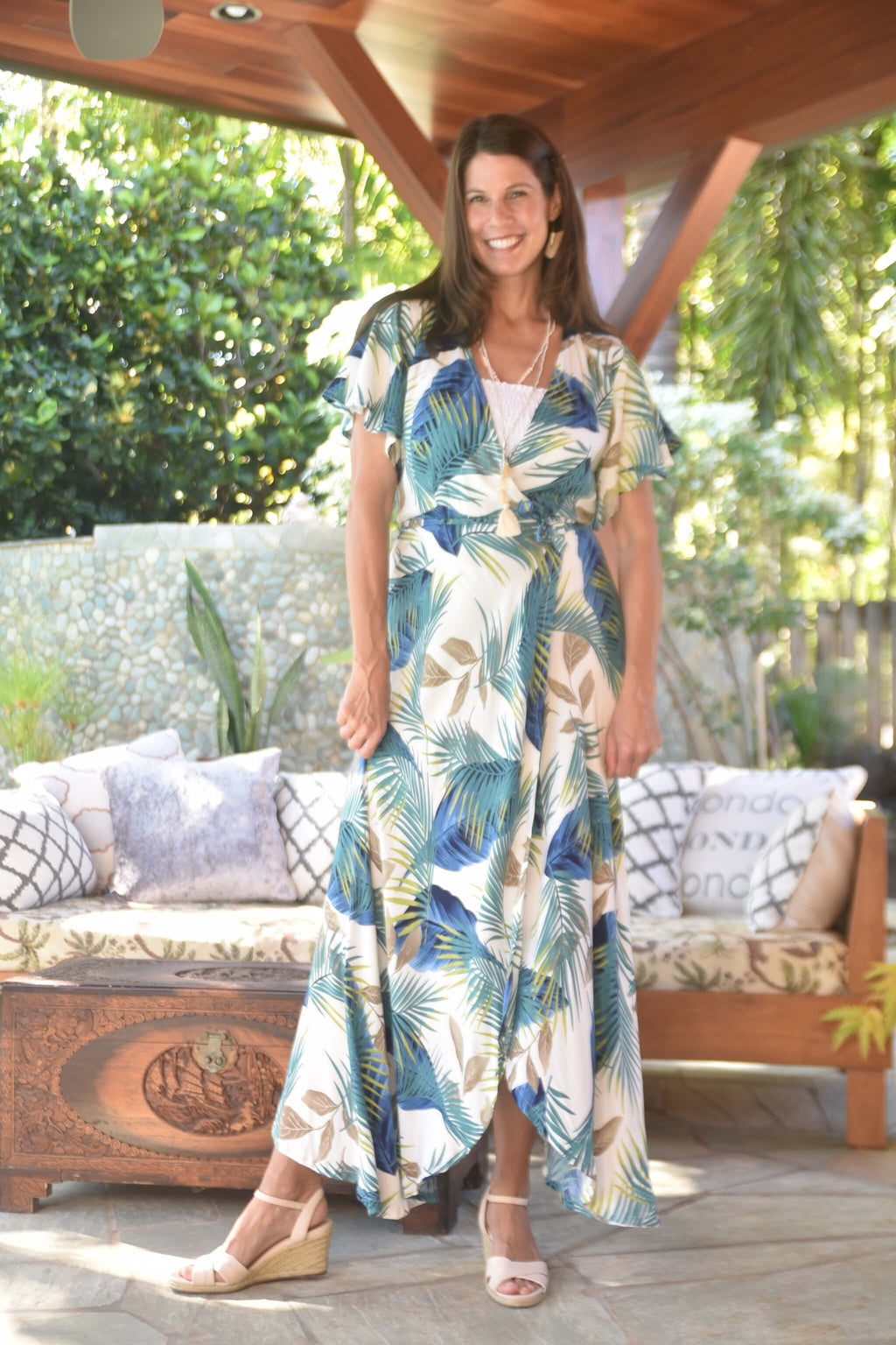 Palm Fern Tori Dress