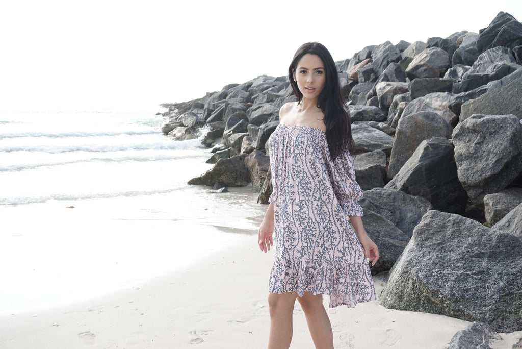 Lani Lau Sea Coral Indigo Dress