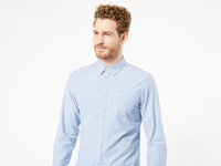 STRETCH OXFORD SHIRT - OXFORD DELFT