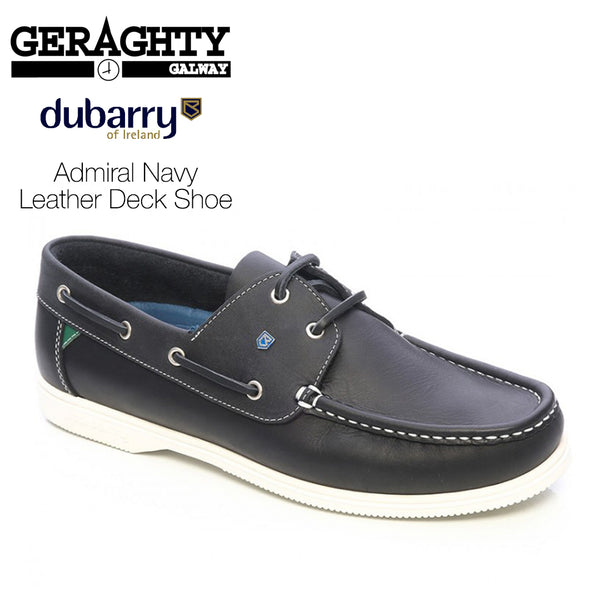 Dubarry Admirals Navy Leather Deck Shoes