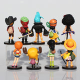 One Piece Straw Hat Pirates 9pcs/set 8cm figure - AnimeIkuNow