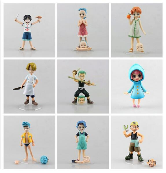 One Piece Straw Hat Pirates Childhood Version 10cm - AnimeIkuNow