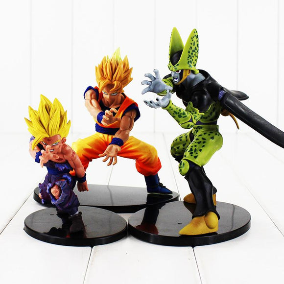 Dragon Ball Z Cell Goku and Gohan in Kamehameha Stance 6