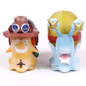 One Piece Monkey D Luffy and Ace Den Den Mushi 2pcs/set 10 cm - AnimeIkuNow