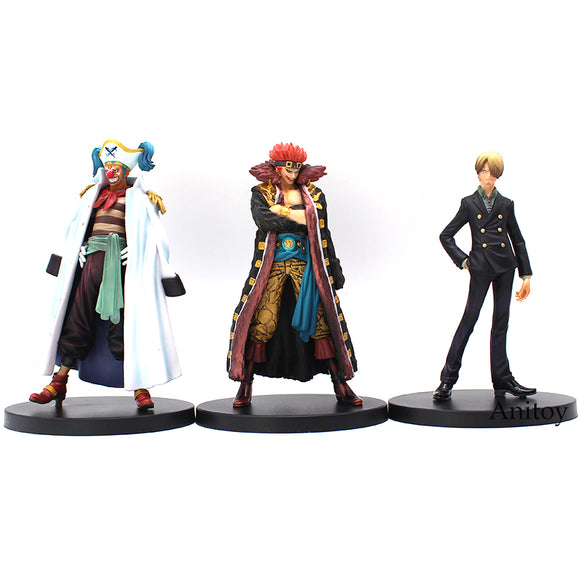 One Piece The Grandline Men vol.7 Sanji Buggy Captain Kidd 16cm - AnimeIkuNow
