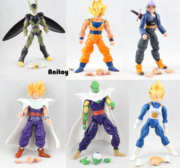 Dragon Ball Z Goku Vegeta Piccolo Gohan Cell Trunks Figures 6pcs/set - AnimeIkuNow