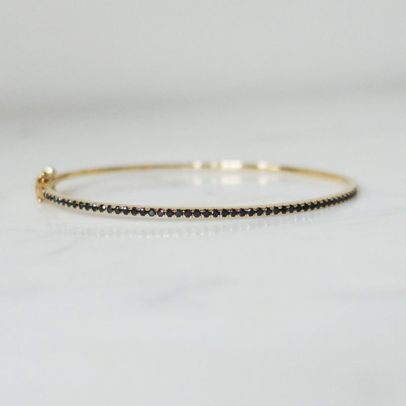 Diamond bangle - Black Diamonds 0,5ct