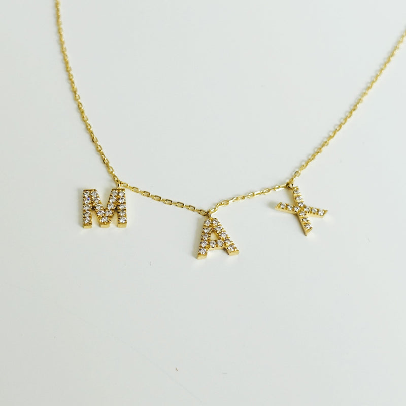 3 Letter Name Necklace