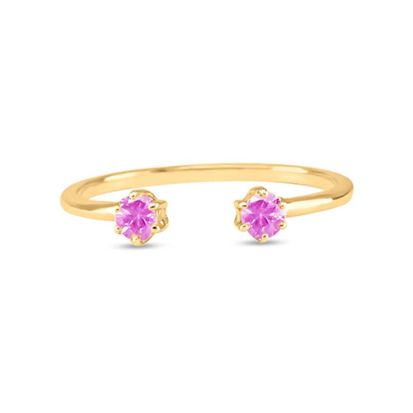 Double Sapphire Ring - Pink Sapphire