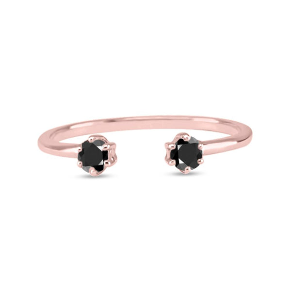 Double Diamond Ring - Black Diamond