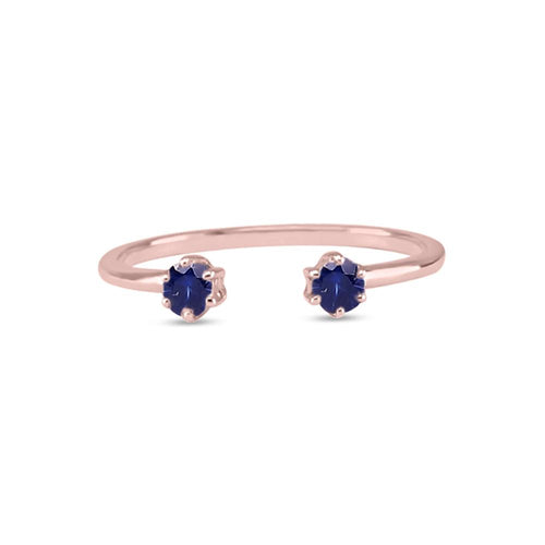 Double Sapphire Ring - Blue Sapphire