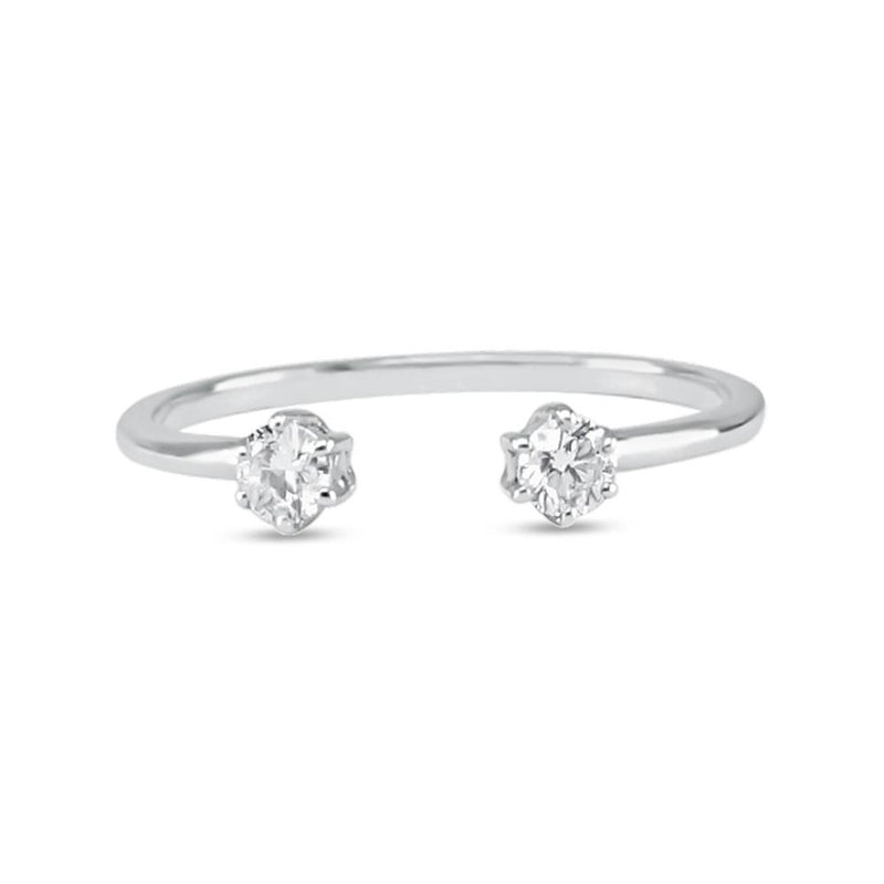 Double Diamond Ring - White Diamond