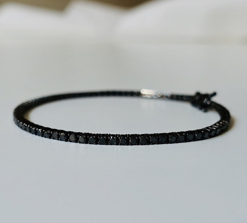 Tennis Bracelet 3,5 carat -  Black Diamonds