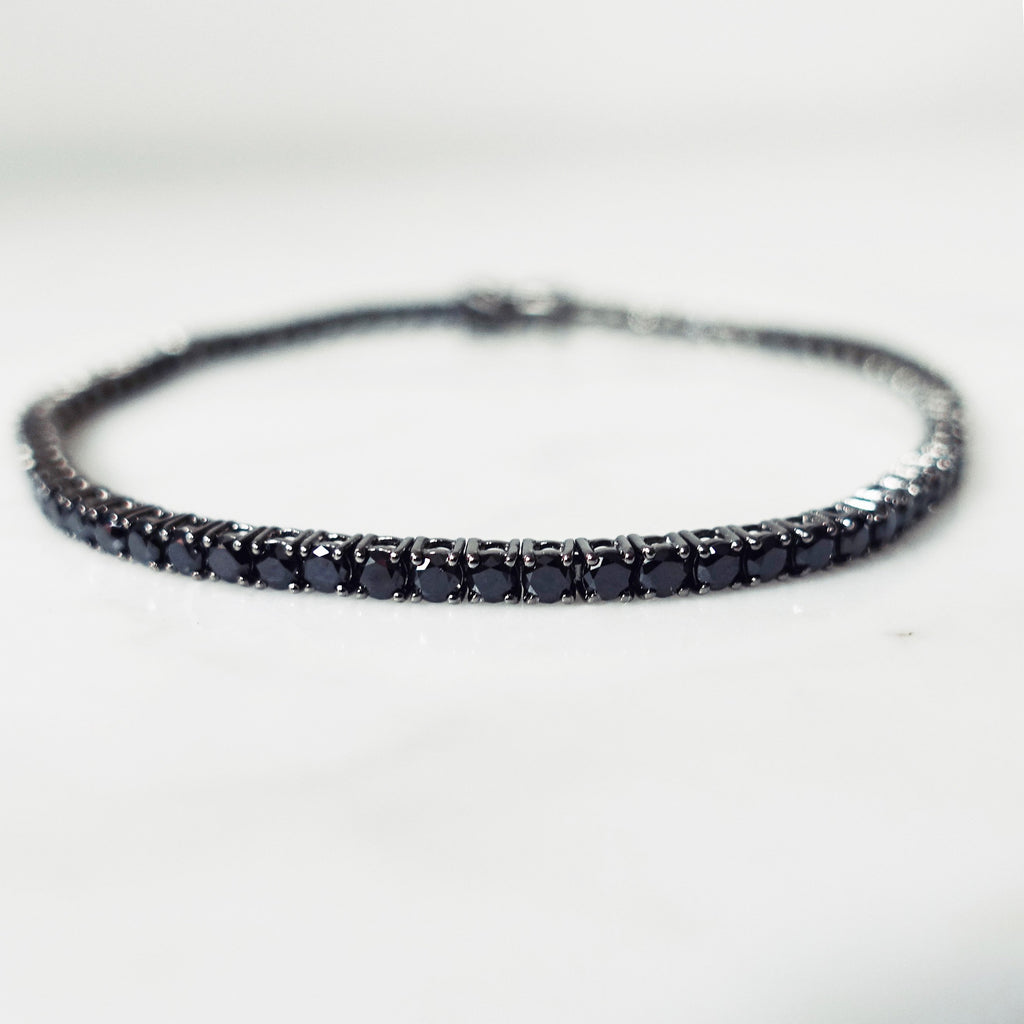 Tennis Bracelet 5 carat -  Black Diamonds