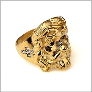 Jesus 'Gold Face' Ring