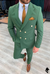 Vins Green Double Breasted Suit