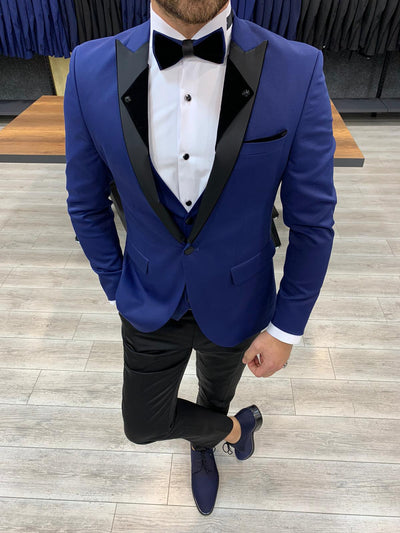 Wellington Dark Blue Slim Fit Suit