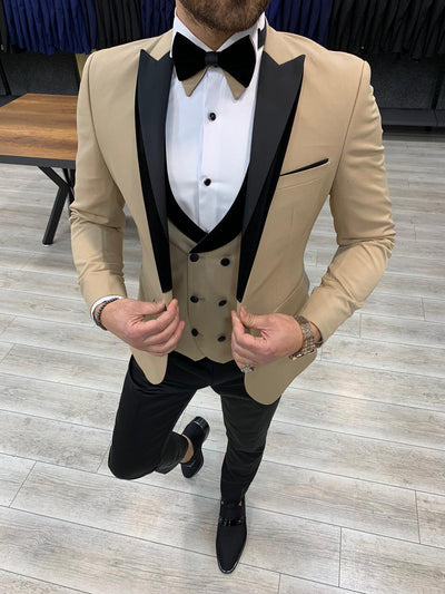 Eros Khaki Slim Fit Suit