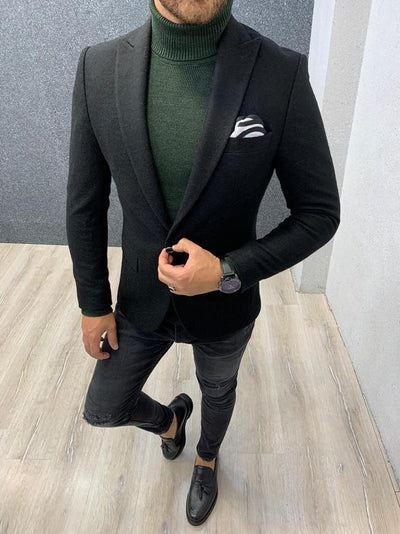 Larook Black Slim Fit Blazer