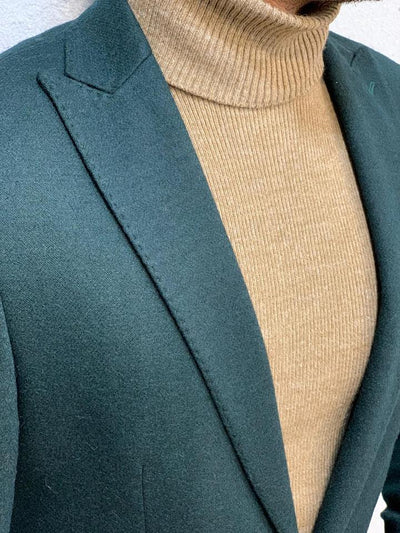 Vins Green Slim Fit Blazer