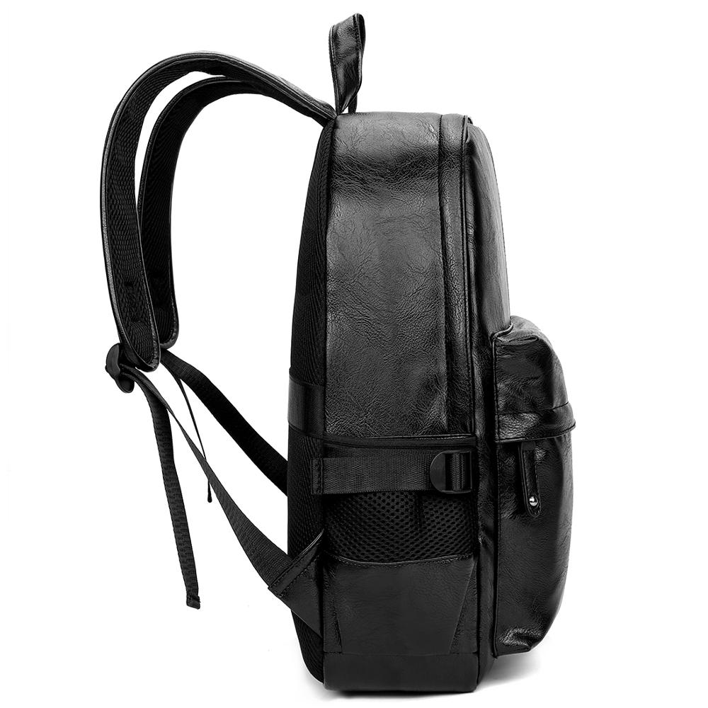Preppy Style Leather Backpack