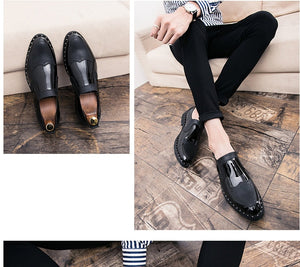 Texture Brogue Shoes