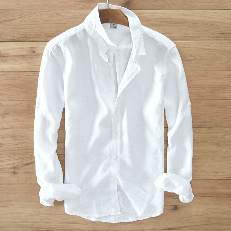 Pure Linen Long-sleeved Shirt