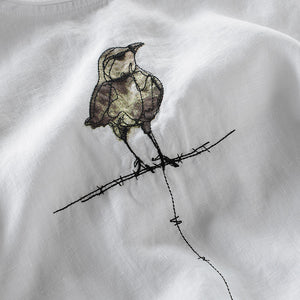 Flax Bird Printed T-shirt
