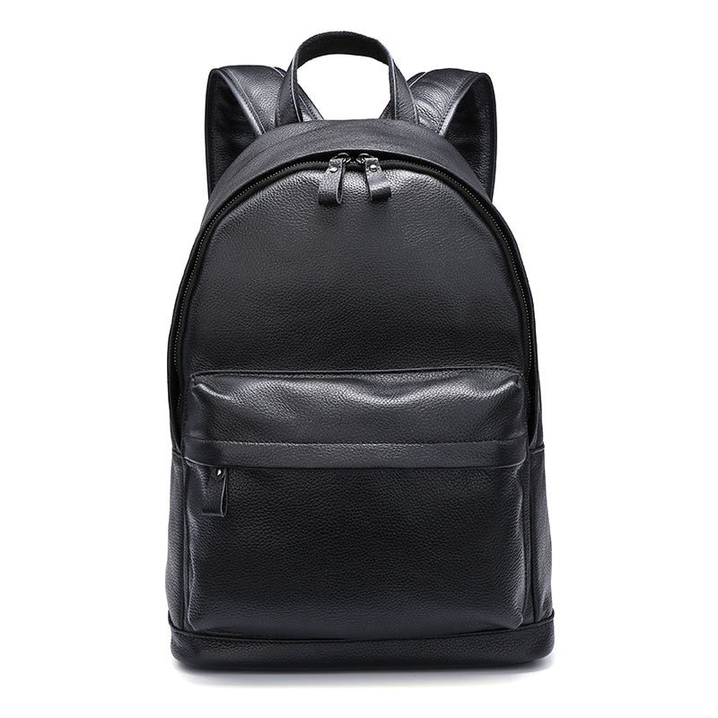 Genuine Leather Men Backpacks