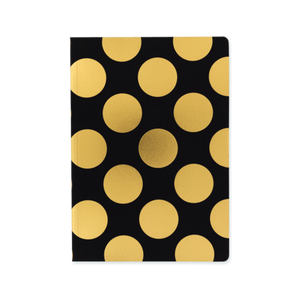 Classic Shimmer Notebook - Black & Gold