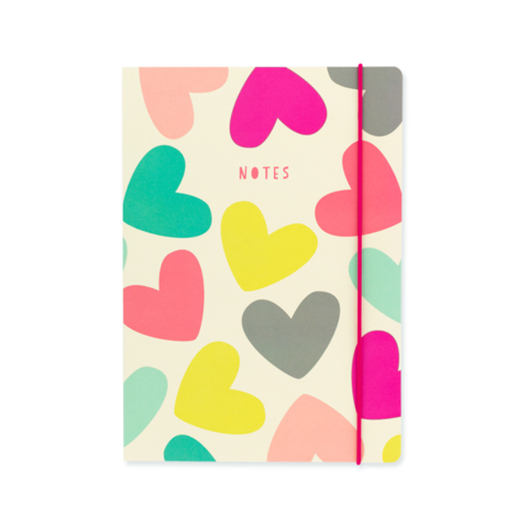 Hearts A5 Notebook