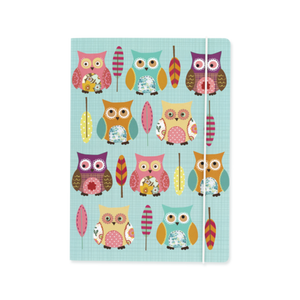 Owl Covered A5 Notebook