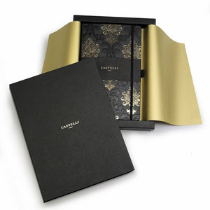 Castelli Art Deco Black & Gold Notebook