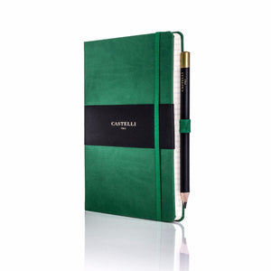 Castelli - Tucson Ivory Notebook Forest Green