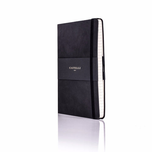 Tucson Flexible Ivory Notebook - Black